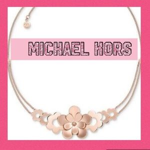 Michael Kors Flower Necklace NWT
